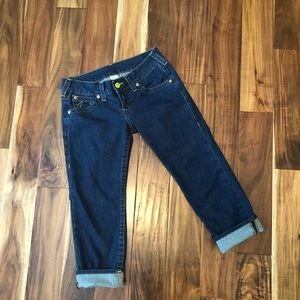 True Religion cropped jeans size 29